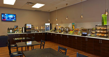 Enjoy a complimentary hot breakfast at the Quality Inn & Suites Saskatoon.
