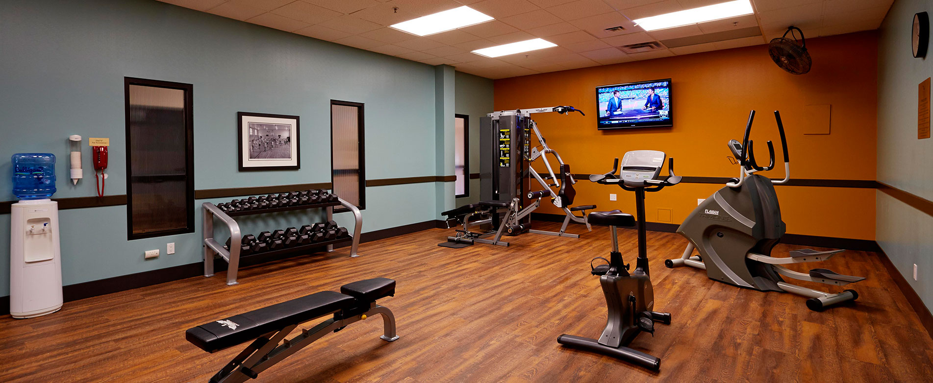 On site fitness facilities at our Saskatoon hotel